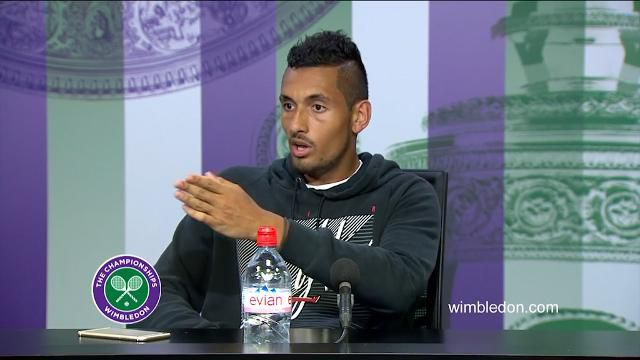 Kyrgios unable to bite his tongue