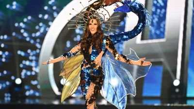 Miss Universe contestant Catalena Caceres of Chile during the national costume presentation.