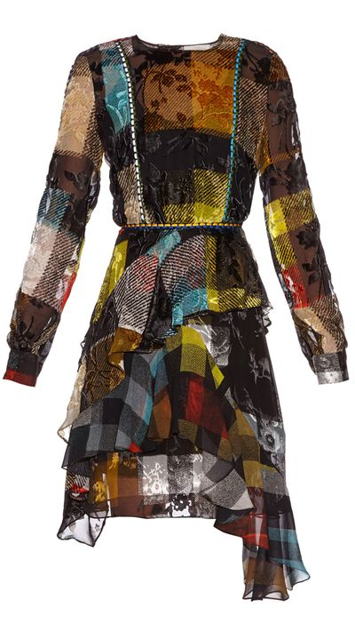"<p><a href=""http://www.matchesfashion.com/au/products/Preen-By-Thornton-Bregazzi-Janice-floral-devor%C3%A9-checked-silk-dress-1026627#"" target=""_blank"">Dress, $2735, Preen By Thornton Bregazzi at matchesfashion.com</a></p>"