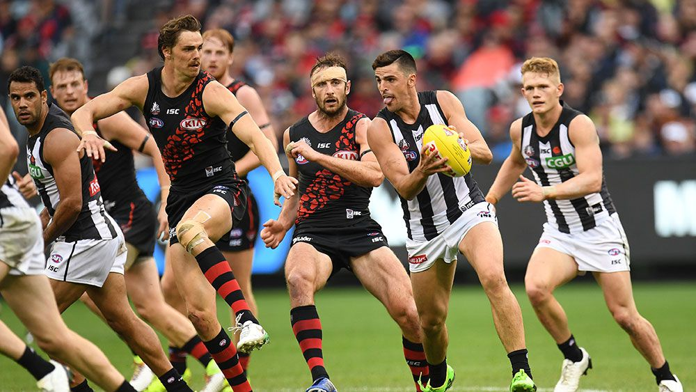 Collingwood's Scott Pendlebury in action against Essendon earlier this season. (AAP).