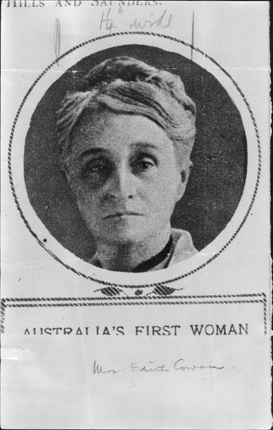 Australia's First Woman MP Mrs. Edith Cowan