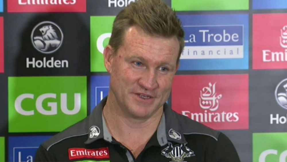 "Collingwood coach Nathan Buckley slams media ""fabrications"" over Ross Lyon speculation"