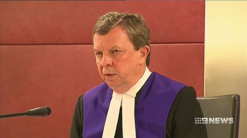 County Court Judge Bill Stuart was scathing of Di Paolo in sentencing today, saying he had exploited his victims. Picture: 9NEWS.