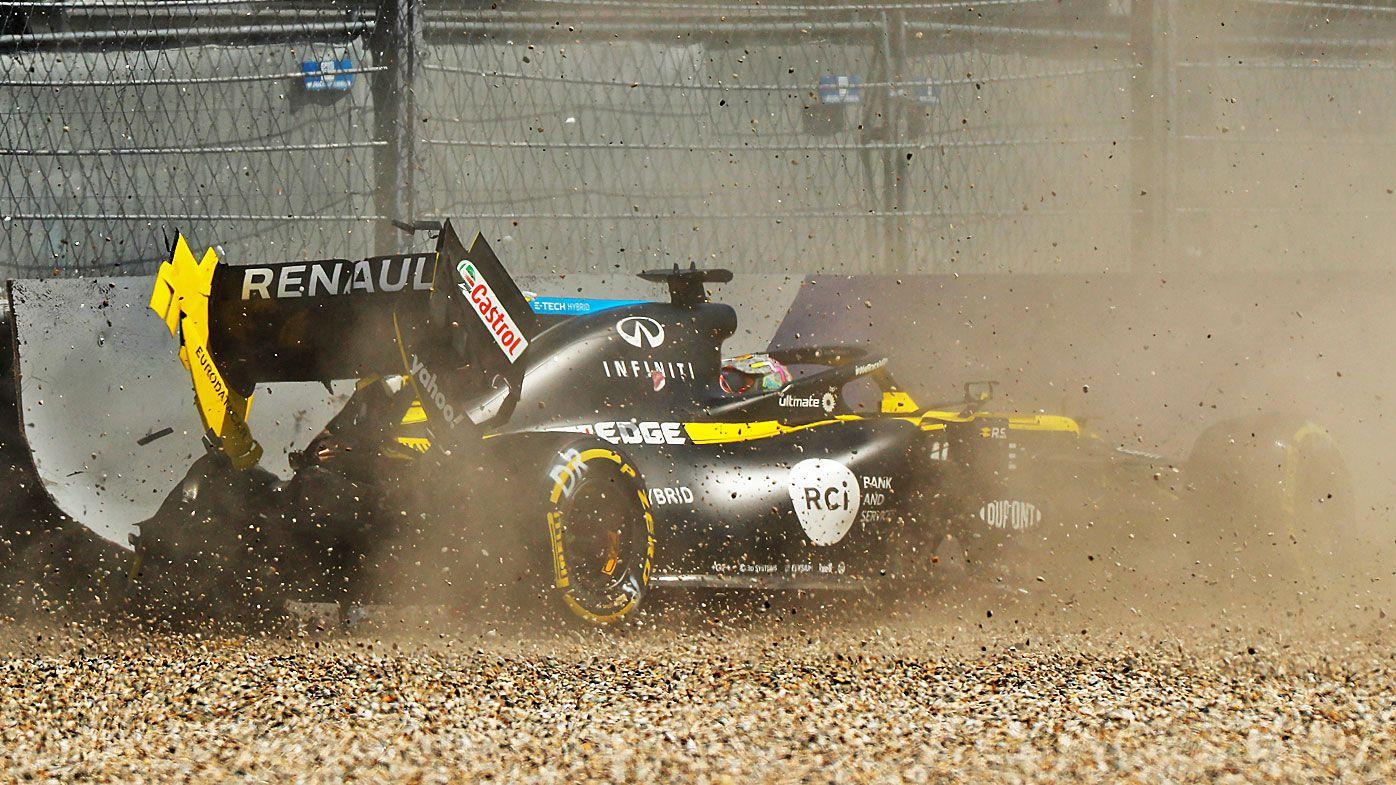 Daniel Ricciardo of Australia driving the (3) Renault