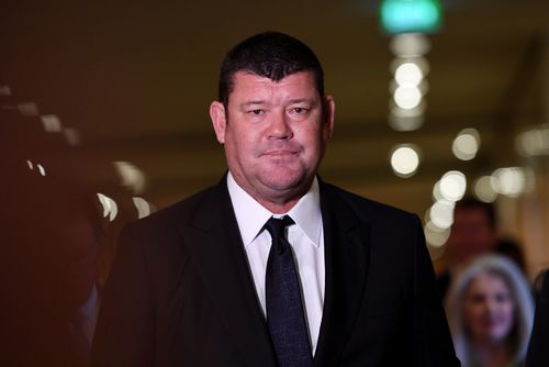 James Packer resigned from the Crown Resorts board yesterday. (AAP)