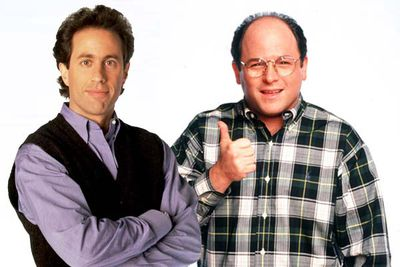 """Jerry is the neat-freak comedian in sneakers, George is the """"short, stocky, slow-witted, bald man"""", and it's a match made in bromantic heaven. Nine seasons and a <i>Curb Your Enthusiasm</i> reunion later, it still feels fresh."""