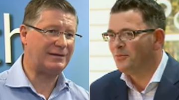 Denis Napthine and Daniel Andrews have now finished campaigning in the Victorian election. (9NEWS)