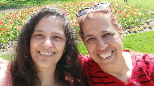 Lily Pereg, 54, and her sister Pyrhia Sarussi, 63, were found at the bottom of a property owned by Ms Sarussi's 36-year-old son.