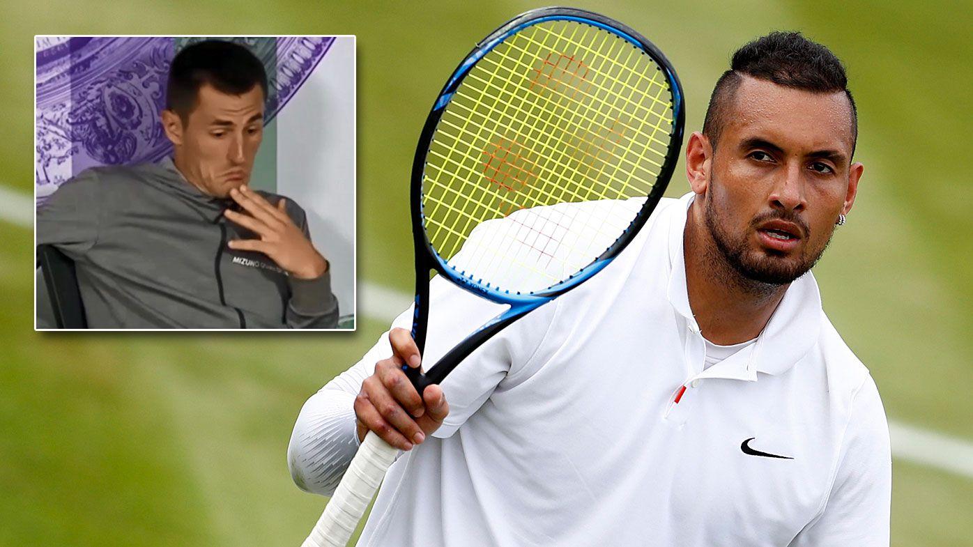 Nick Kyrgios calls $80k Wimbledon fine on misunderstood Bernard Tomic 'outrageous'