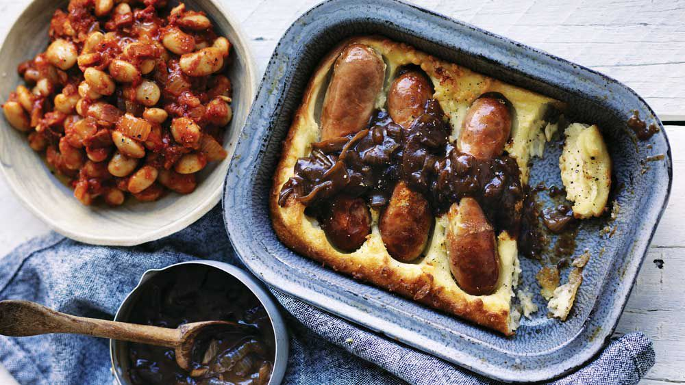 Will and Steve's toad in the hole with onion gravy