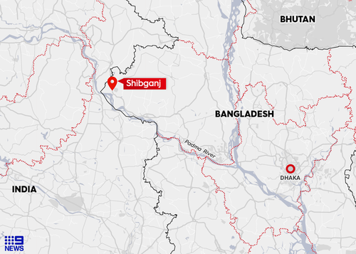 The party were struck by lightning in Shibganj, a riverside town in north-west Bangladesh.