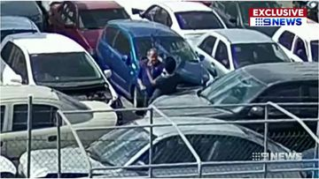 A deregistered WA panel beater at the centre of a Consumer Protection investigation has been captured on CCTV in a physical confrontation with customers.