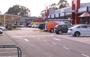 Schoolyard fight between teenage girls escalates as father is stabbed in shopping centre carpark
