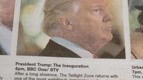 Scottish TV guide describes Donald Trump's inauguration as 'nightmarish VR project'
