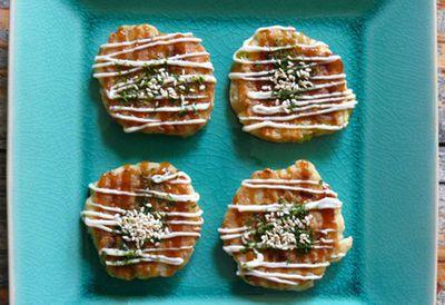 Cocktail Okonomiyaki (Japanese pancakes)