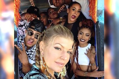 @fergie: And the #LALOVE movement is rolling along. #SouthCentral showing some L.A.LOVE.