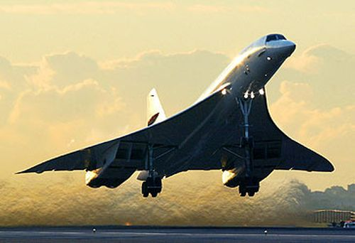Concorde was banned from flying over the US. (AFP)