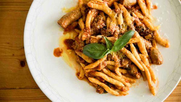 Massimo Mele's handmade macaroni with traditional ragu sauce