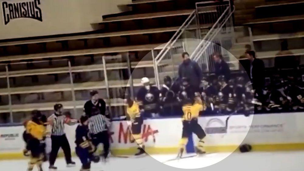Ice hockey coach skates to new low