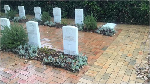 Police are investigating after five Military graves and a wall containing ashes were destroyed in Nowra Cemetery recently.