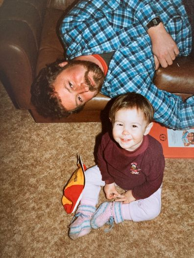 Danielle Conlan with her father Chris when she was a toddler.