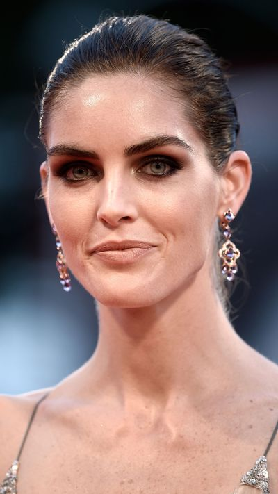 Hilary Rhoda also wears Chopard earrings at the <em>Spotlight </em>premiere.