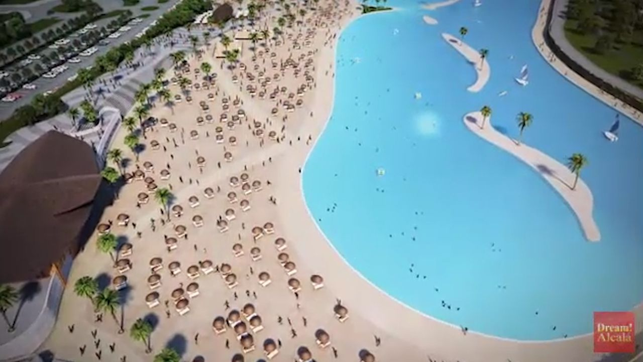 Europe's largest artificial beach