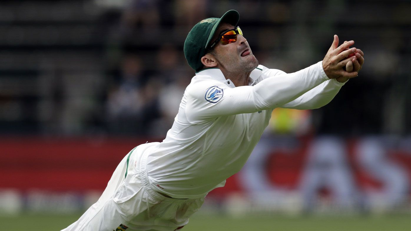 South Africa's Dean Elgar takes spectacular catch against Australia in fourth Test