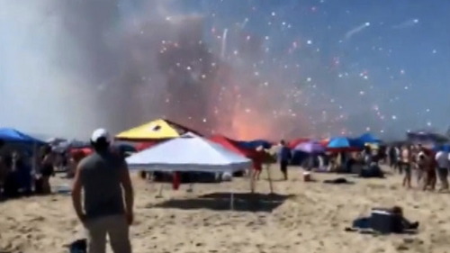 Employees of the fireworks company behind the July 4th celebration received minor injuries after the fireworks accidentally exploded.