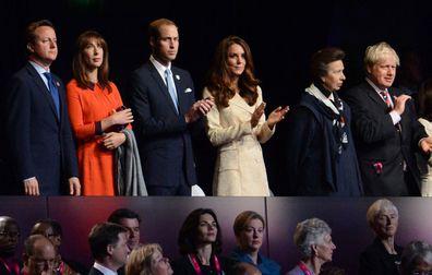 British Prime Minister Boris Johnson breaking royal protocol Queen