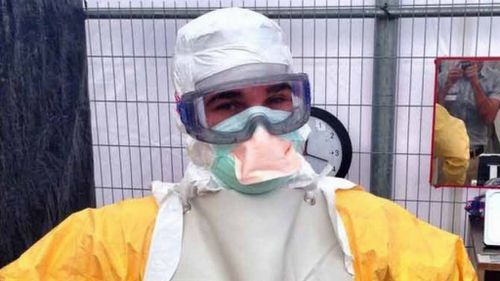 A photo of suspected Ebola patient Dr Craig Spencer in west Africa, from his Facebook page.