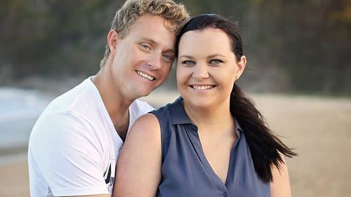 Andy Forbes with his wife Sam. (Supplied)