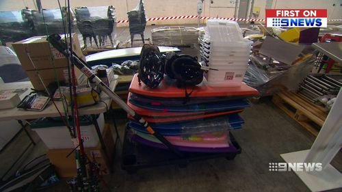 Some will be auctioned off tonight, while others will go up for sale on Saturday and Sunday. Picture: 9NEWS