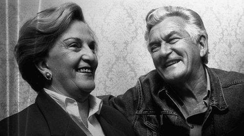 Bob Hawke with his first wife, Hazel. They were married from 1956-1995 (AAP)