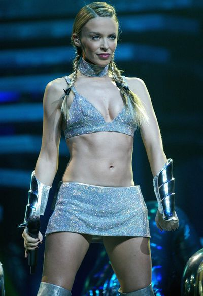 <p>Kylie Minogue performing at Manchester Arena, 2002</p> <p> </p>