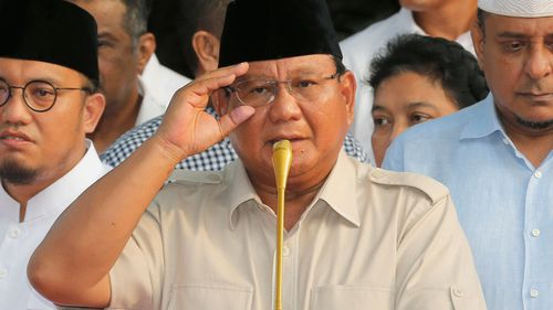Indonesian presidential candidate General Prabowo Subianto has claimed corruption.