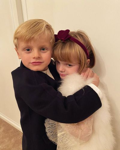 Prince Jacques and Princess Gabriella play dress ups, October 2020