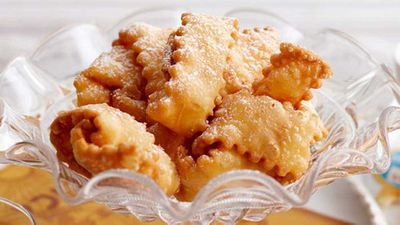 """Click through for our&nbsp;<a href=""""http://kitchen.nine.com.au/2016/05/17/09/56/pastry-ties-with-gooey-caramel"""" target=""""_top"""">Pastry ties with gooey caramel</a>"""