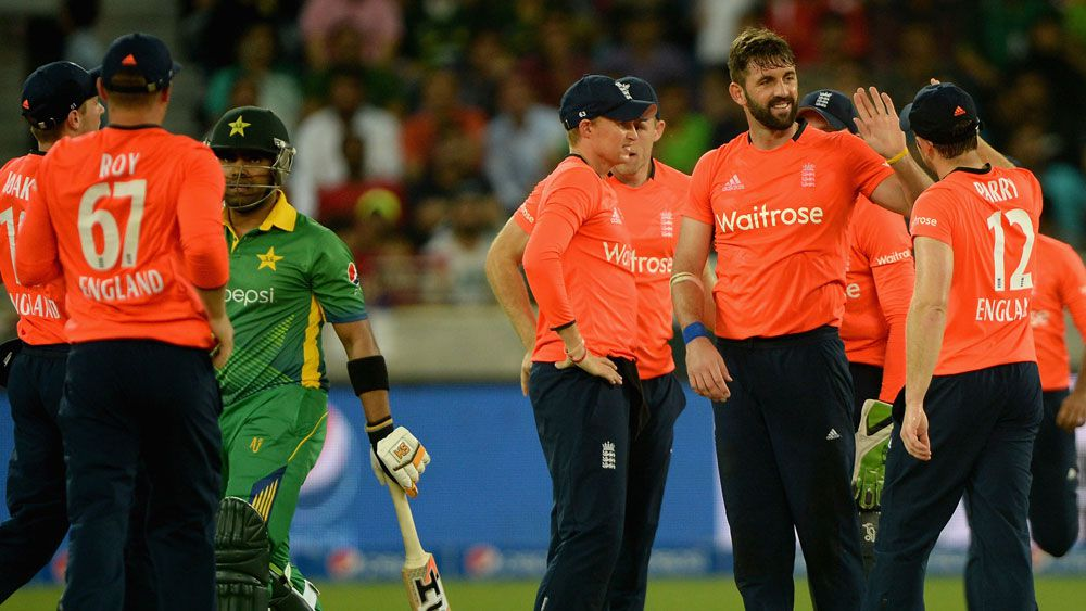 England's Liam Plunkett celebrates a wicket. (Getty)