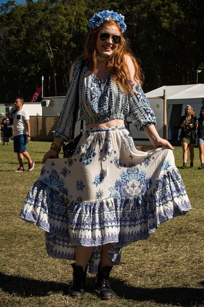How does your garden grow?  Splendour In The Grass, street style, 2017.