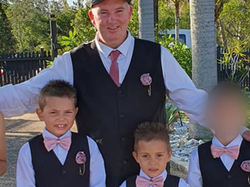 Joseph Shorey and his sons Shane and Sheldon, who were killed in an alleged hit-and-run.
