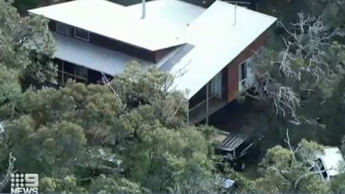 The holiday home where the three-year-old boy went missing from earlier today.