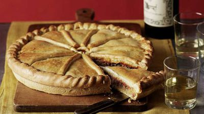"Sardine empanada - <a href=""http://kitchen.nine.com.au/2016/05/19/15/46/sardine-empanada"" target=""_top"">view recipe</a>"