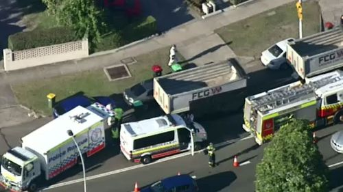 Sydney cyclist dies after collision with truck
