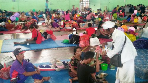 More than 57,000 people have fled the area.