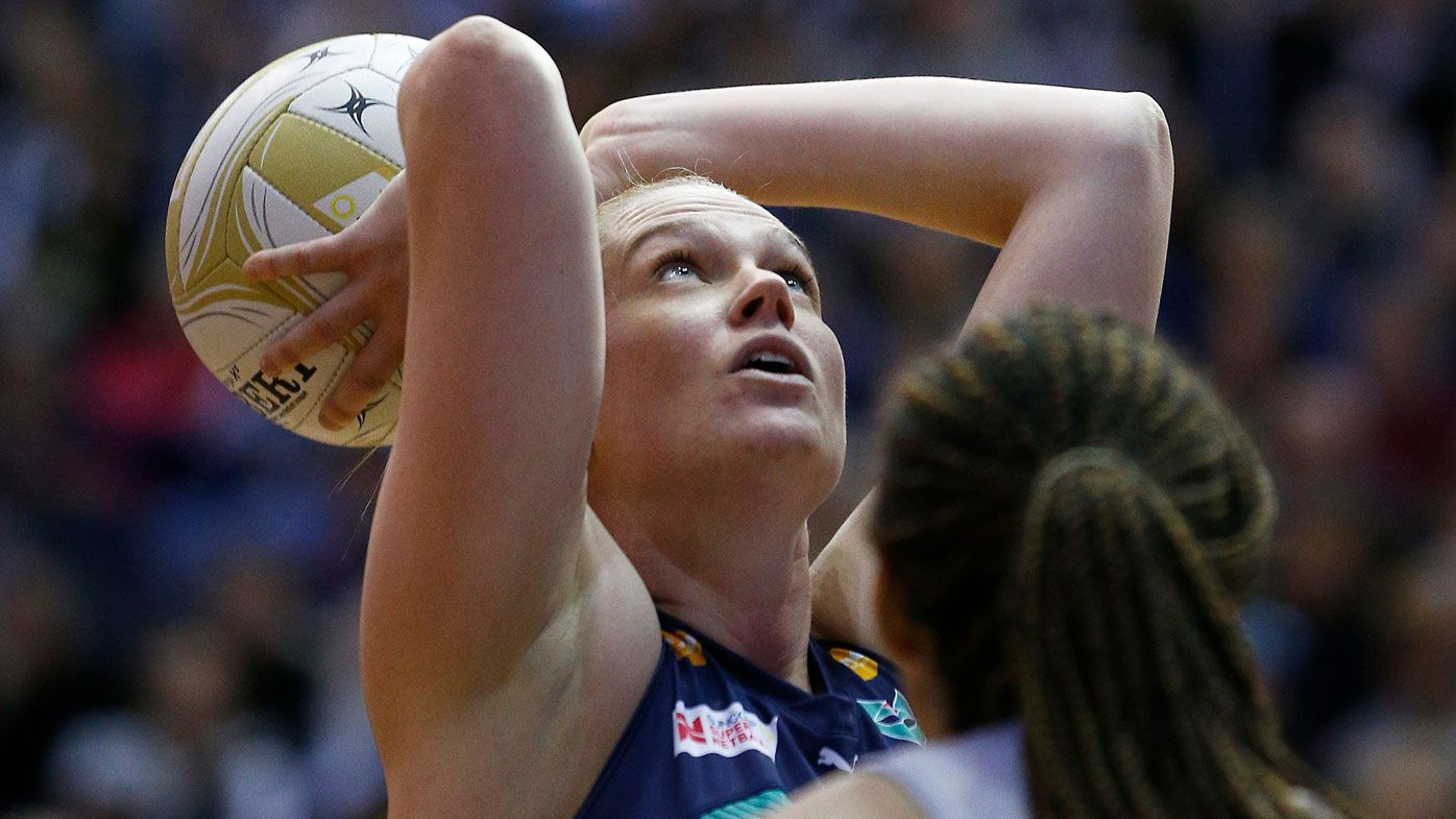 Stars react to two-point super-shot in Netball Australia bushfire relief match