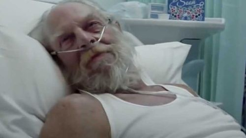 An ad, showing Santa Clause in hospital with COVID-19, has been taken down online.