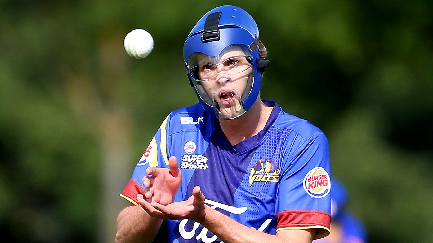 Kiwi cricketer who wears full face mask wants more protection for bowlers