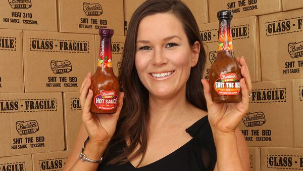 This Perth mum's naughtily-named cult hot sauce is about to blow up