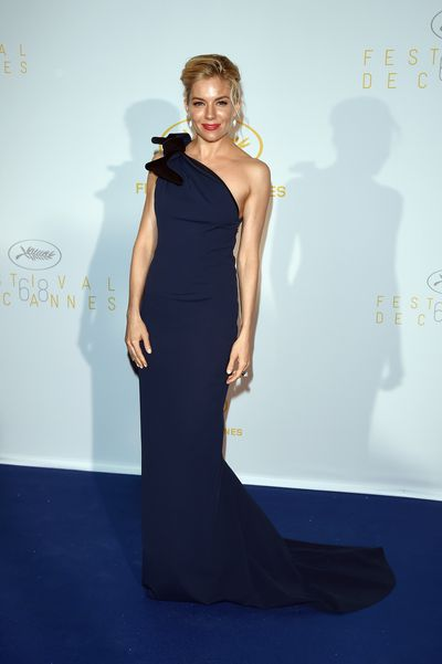 <p>A blue Lanvin gown and Atelier Swarovski earring were Miller's go-to for the Cannes opening ceremony.</p>